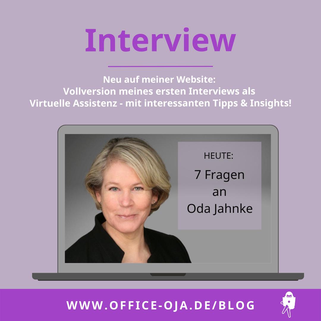 Interview Oda Jahnke von office-oja