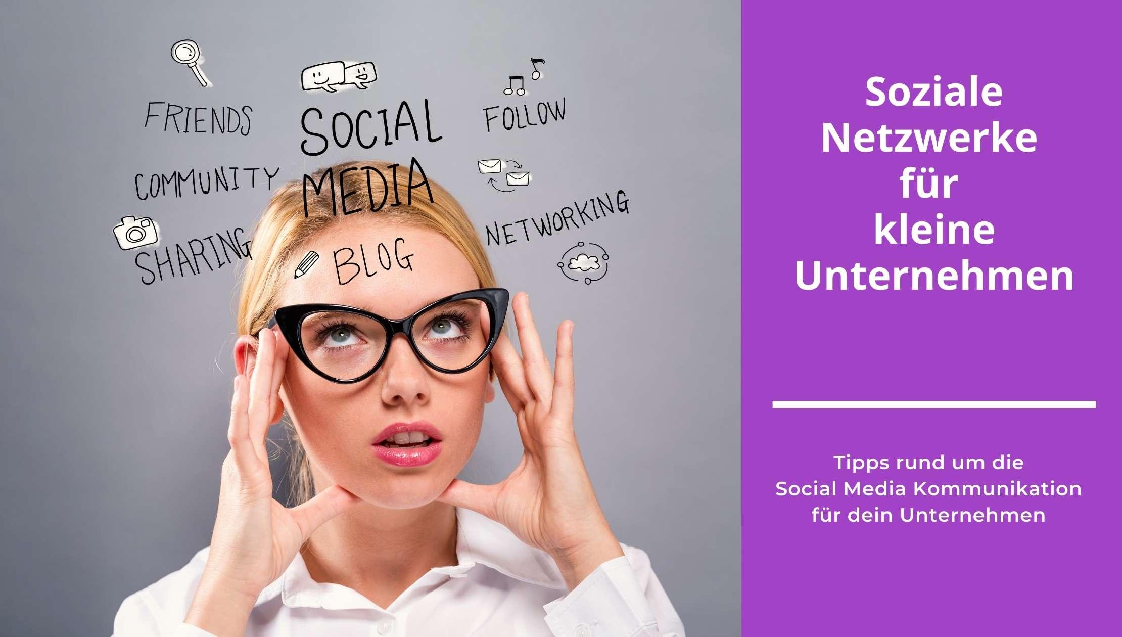 office-oja: Soziale Netzwerke für kleine Unternehmen (Bloggrafik)